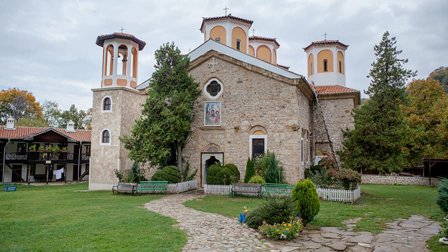 The monastery restored with the preservation of its authentic architecture