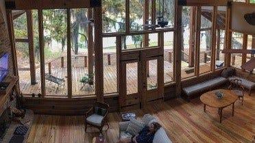 The timber framed house in Mississippi