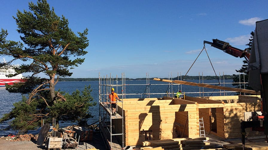 The sauna construction
